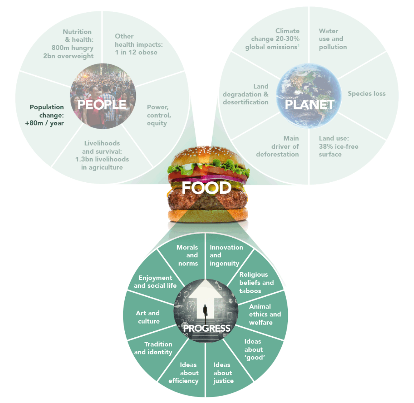 Figure 17: Connection between food systems and human values.