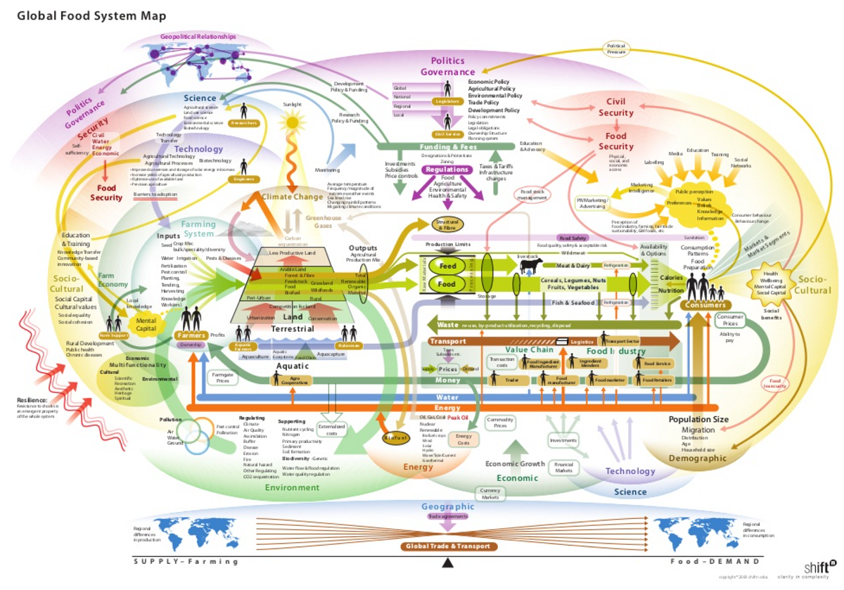 Figure 4: A comprehensive illustration of the global food system.