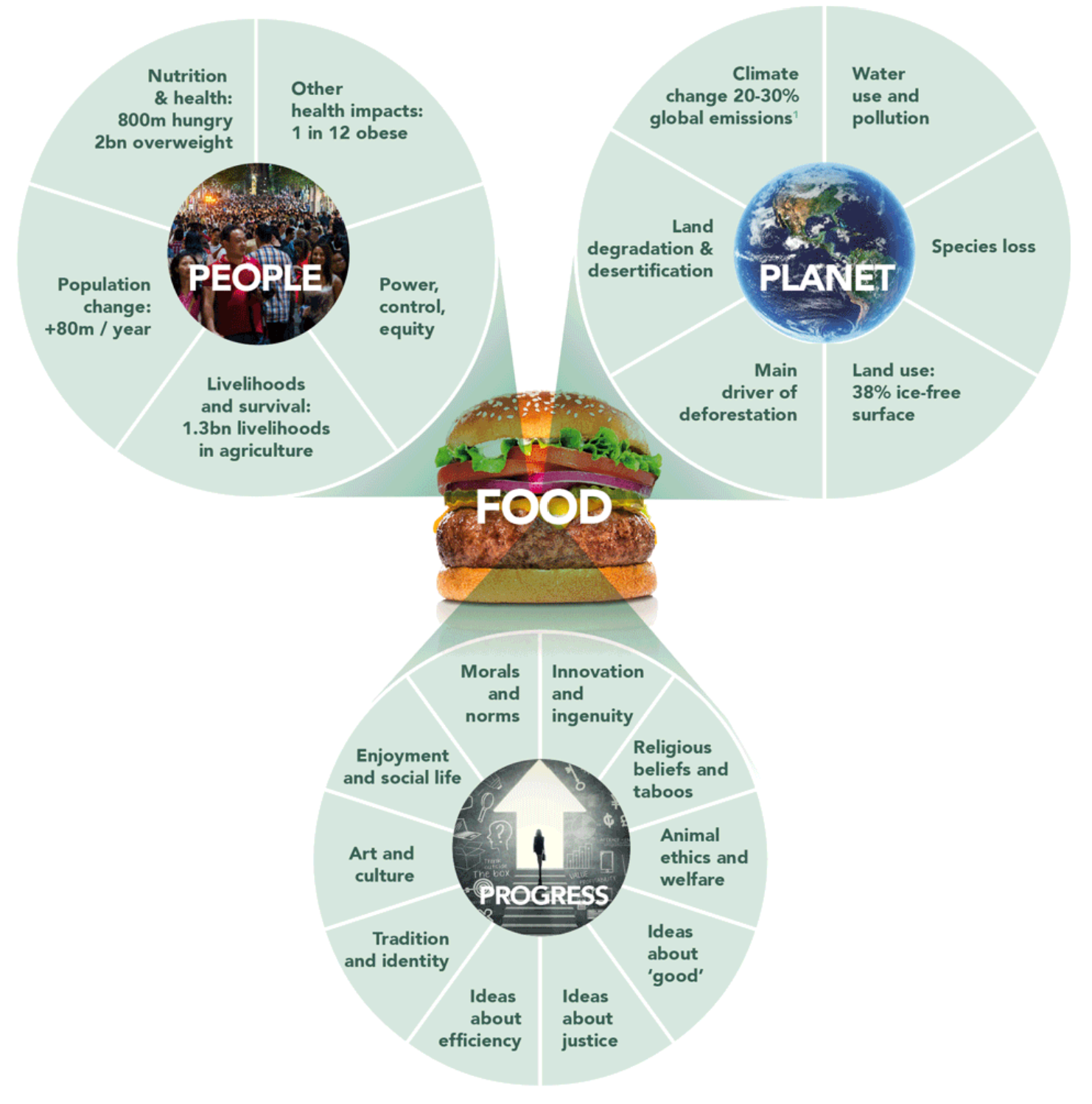 Figure 6: Connection between food systems and other issues and concerns
