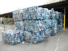 Image: Michal Maňas, Bales of crushed blue PET bottles. In Olomouc, the Czech Republic, Wikimedia Commons, Creative Commons Attribution 3.0 Unported